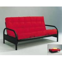 Buy cheap Round Arm Black Metal Futon Frame from wholesalers