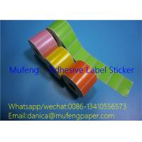 Buy cheap Full Color Printed Thermal Printer Labels Roll White Glassin 40mm Paper Core from wholesalers