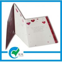 Buy cheap C2S Art Paper Musical Recording Greeting Card Stock Paper With Lighting Printing Services from wholesalers