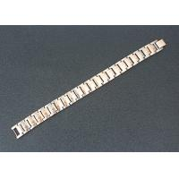 Buy cheap Health Care Magnetic Stainless Steel Bracelets Custom Rose Gold Plated from wholesalers