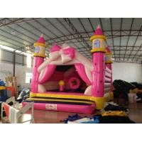 China Princess Kids Inflatable Bounce House Pink Bowknot Inflatable Jump Castle on sale