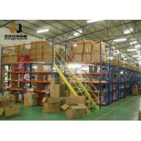 China Boltless / Rivet Shelving Industrial Mezzanine Floors Surface Smooth 2m Height on sale
