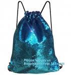 Buy cheap Premium Mesh Beach Bag Drawstring Beach Bag Net String Backpack,Shine Magic School Backpack For Teenage Girl bagplastics from wholesalers