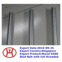 Buy cheap Monel K500 Stud Bolt with full threaded from wholesalers