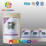Buy cheap Logo Printed Chia Seeds Krafter Paper Ziplock Bag / Nut Snack Food Packaging from wholesalers