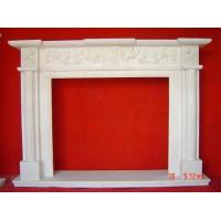 Wholesale natural stone carved simple fireplace mantel from china suppliers