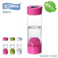 Buy cheap Plastic 550ML BPA Free Mineral Alkaline Water Bottle No Battery No USB Charge from wholesalers