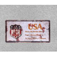 China USA New York Aged Looking Road Sign Plate Wall Art Ornament Metal Plate Metal Tin Sign on sale