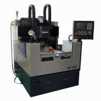 Buy cheap Glass Curved Carving Cutting Machine with 60,000rpm Rotational High-speed Spindle, Grind Wheel from wholesalers