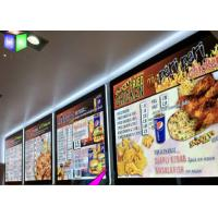 China Customized Single Side A3 LED Lightbox / Led Panel Light Box For Menu Sign on sale