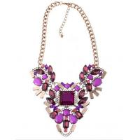 shou * ouk exaggerated color crystal pendant necklace fashion resin diamond necklace