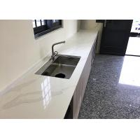 Buy cheap High Brightness Quartz Kitchen Floor Tiles Chemical Resistant Easy To Clean from wholesalers
