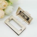 Buy cheap Light Gold Handbag Strap Hardware Metal Rotate Lock ROHS Certificate from wholesalers