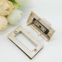 Wholesale Light Gold Handbag Strap Hardware Metal Rotate Lock ROHS Certificate from china suppliers