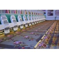 24 Heads Flatbed Embroidery Machine For Curtain Textile With Auto Trimmer , 1200 RPM Manufactures