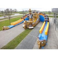 Buy cheap Custom Adults or Kids Giant Pirate Ship Inflatable Dry Slide from wholesalers