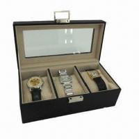 Wholesale Simulated Leather Watch Case, Measures 8.75 x 3.5 x 4.5 Inches from china suppliers