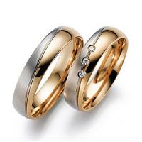 Buy cheap Solid 9ct 18ct yellow gold men's couple rings diamond wedding rings JSHG65-Y from wholesalers