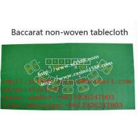 Quality Green tablecloth /non-woven / Baccarat / 7 people / tablecloth /tablecloth for game for sale
