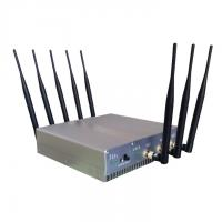 Buy cheap Signal jammer | 16W 8 Antennas High Power Desktop 3G 4G Cell phone Bluetooth Jammer from wholesalers