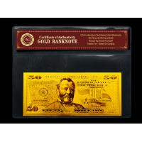 Buy cheap Security printing gold dollar bill 24K for gift with certificate COA from wholesalers