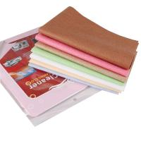 Buy cheap Colorful car cleaner microfiber chamois cloth for glass cleaning window cleaning towel from wholesalers
