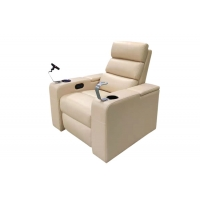 Buy cheap Top Layer Natural Leather Private Home Cinema Recliner Sofa Theater Seating With Wine Cup Holders from wholesalers
