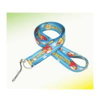 Buy cheap 3/4 Ployester lanyard with split key ring and cellphone rope attachments from wholesalers