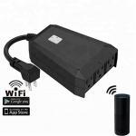 Buy cheap IP44 waterproof wifi remote control smart plug desktop socket, suitable for home indoor and outdoor from wholesalers