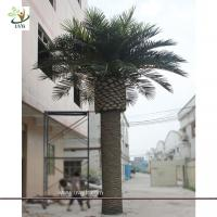 Buy cheap UVG PTR013 20ft Giant fake palm tree dubai with UV leaves for outdoor beach decoration from wholesalers