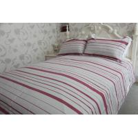 horizontal stripe   red&white polycotton or full cotton duvet cover sets ---color  woven cloth Manufactures