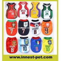 Wholesale sports football basketball team dogs apparel pet clothes 100% polyester colorful cute dog Tshirt from china suppliers