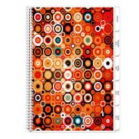 Buy cheap Custom Hardcover Day Planner/spiral notebook with 12 monthly tab divider pages in color from wholesalers