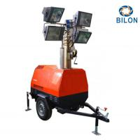 Buy cheap Trailer Type IP65 7m Mobile Lighting Tower For Outdoor Oversized Fuel Tank Design from wholesalers