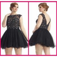Buy cheap Short Black Tulle Mini Short Long Homecoming Dresses , Prom Party Gowns from wholesalers