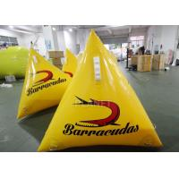 Buy cheap Water Play Equipment 1.0m Yellow/Orange Silk Printing Inflatable Marker buoy from wholesalers