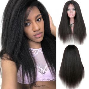 Yaki Kinky Straight Full Lace Wigs Human Hair No Chemical No Tangle
