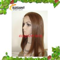 Fashionable 14 inch Kinky Curl Light Brown Color Indian Human Hair Lace Front Wig Manufactures