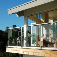 Buy cheap indoor outdoor Glass railing baluster balcony balustrades garden decoration deck from wholesalers