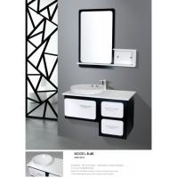 Buy cheap Balck / White modern floating bathroom vanities wall mount soft closer with drawer from wholesalers