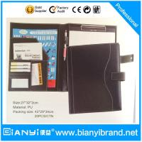 Buy cheap High quality A4 paper brown and black leather file folder design from wholesalers