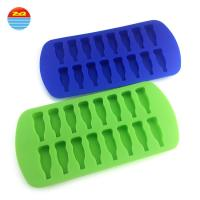 Buy cheap Cola Bottle Silicone Rubber Ice Cube Tray , Small Tiny Cylinder Silicone Freezie Molds from wholesalers