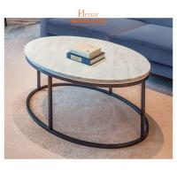 Buy cheap OEM Luxury Living Room Furniture , Stainless Steel Base Oval Marble Top Coffee Table from wholesalers