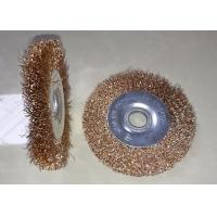 Wholesale 100mm Non Sparking Copper Wire Wheel Brush With 16mm Hole For Rust Removal from china suppliers