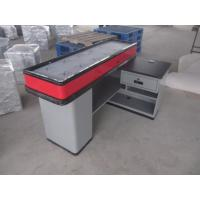 1800L Supermarket Retail Cashier Counter Stainless Steel Customized Manufactures