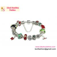 Buy cheap new MOM Beautiful European Wholesale Silver Plated Glass Beads Charm Bracelet Jewelry from wholesalers