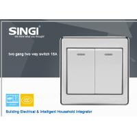 Buy cheap Natural style 2 gang 2 way lighting wall switch , Steel waterproof switch from wholesalers