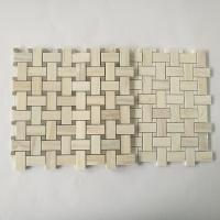 Buy cheap Stone Mosaic Floor Tile Basketweave Design New Material Mosaic Tile Mesh Mounted from wholesalers