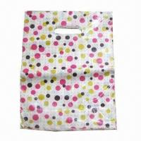 Buy cheap Retail plastic bag with die-cut handle, customized styles and colors are accepted from wholesalers