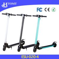 250W hub motor two wheel electric kick scooter with LED light white ,black and blue color Manufactures